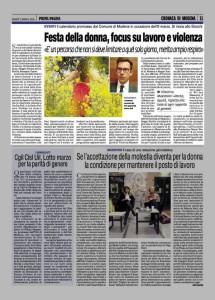 prima pagina 8 marzo
